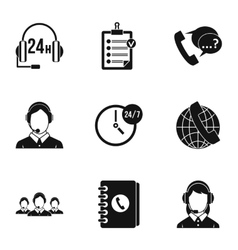 Technical support icons set simple style vector