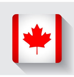Web button with flag of canada vector