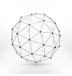 Wireframe globe sphere connectivity network tech vector