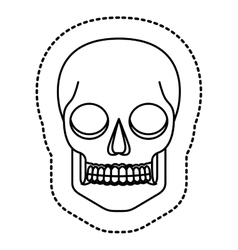 Isolated skull head design vector