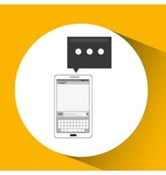 Mobile cellphone email texting icon vector