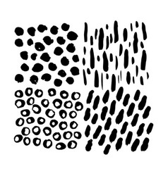 grunge hand drawn brush elements vector image