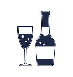 Champagne bottle isolated icon vector