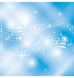 blue and white musical background vector image