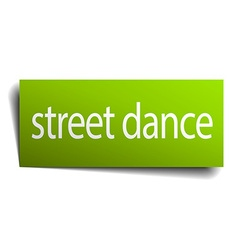 Street dance square paper sign isolated on white vector