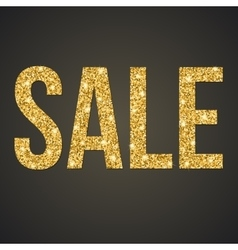 Gold glitter sale poster vector