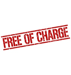 Free of charge stamp vector