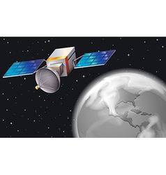 A satellite in the outerspace vector