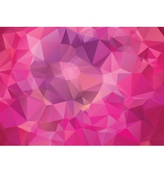 Abstract pink geometric background vector