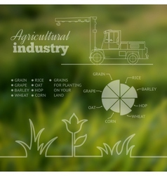Agricultural industry infographic design vector