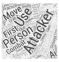 Aikido moves word cloud concept vector