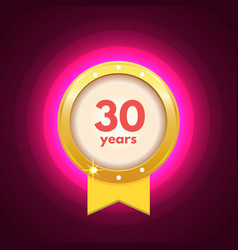 Anniversary 30 icon vector