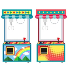 Arcade game boxes in blue and red vector