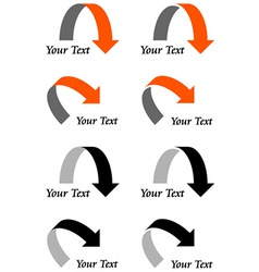 arrows with text vector image vector image