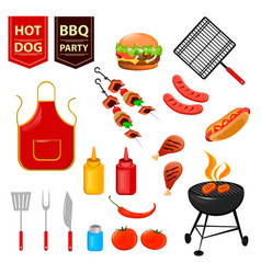 Barbecue 01 vector