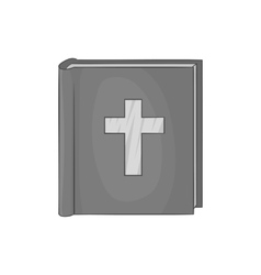 Bible icon black monochrome style vector image vector image