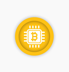 bitcoin icon vector image