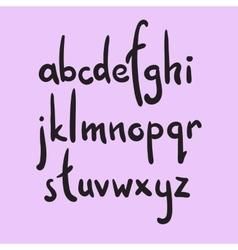 Brush style alphabet vector image vector image