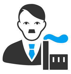 Capitalist oligarch flat icon vector