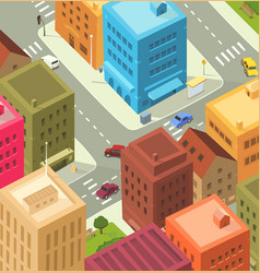 cartoon city - downtown vector image