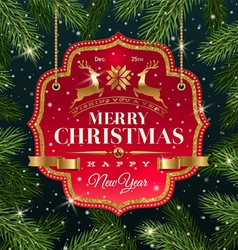 Christmas greeting type design vector image vector image