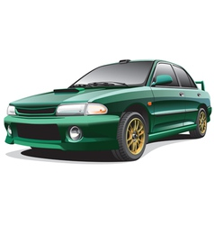 dark-green sports rally car vector image