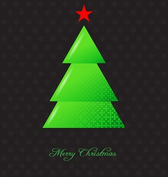 Elegant christmas background with christmas tree vector