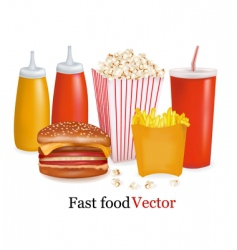 fast-food background vector image