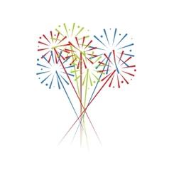 festive fireworks vector image vector image