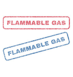 Flammable gas textile stamps vector