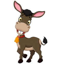 Funny donkey cartoon posing vector