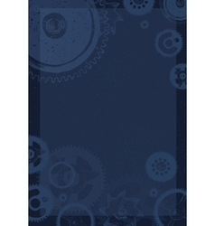 gear blueprint abstract design vector image vector image
