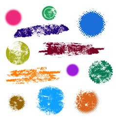 Grunge design shape set vector