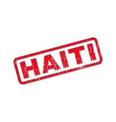 Haiti Rubber Stamp vector image