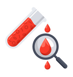hematology icon vector image