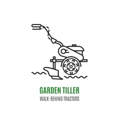 Logo soil cultivation tillage Cultivator vector image vector image