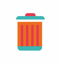 Metal garbage can vector