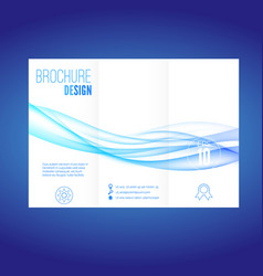 modern futuristic abstract blue wave brochure vector image vector image