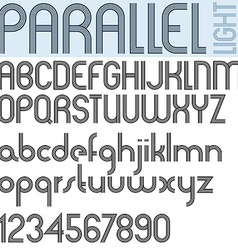 Retro Letters vector image