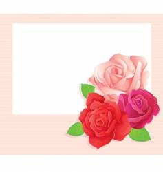 rose card vector image