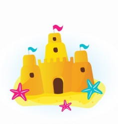 sandcastle cartoon vector image vector image