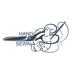 Scissors and sewing accessories vector