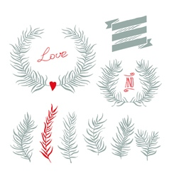 Set decoration Consists vector image vector image