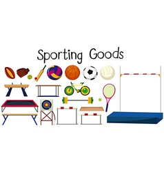 Set of many sport equipments vector