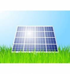 Solar panel landscape vector