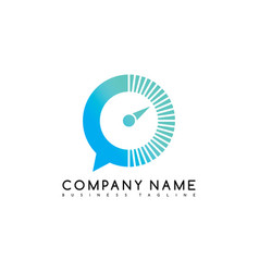 Speed chat exclusive brand company template logo vector
