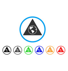 terra triangle rounded icon vector image