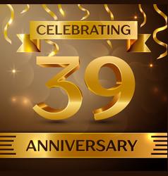Thirty nine years anniversary celebration design vector