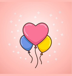 valentines day balloons vector image vector image