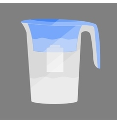 Water jug with a filter vector